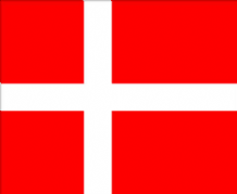 DENMARK - HAND WAVING FLAG (MEDIUM)